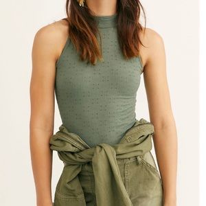 Free People Clear Mind Bodysuit Sz XS/S